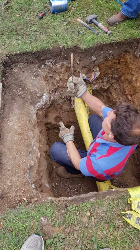 B4SH Network installation in Albury dig