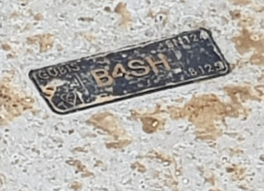B4SH Network installation in Albury name plate